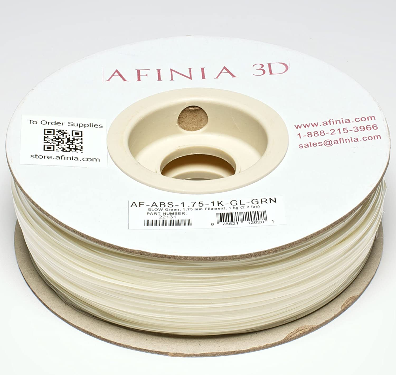 Afinia value-line verde que brillan ABS Filamento para impresoras ...