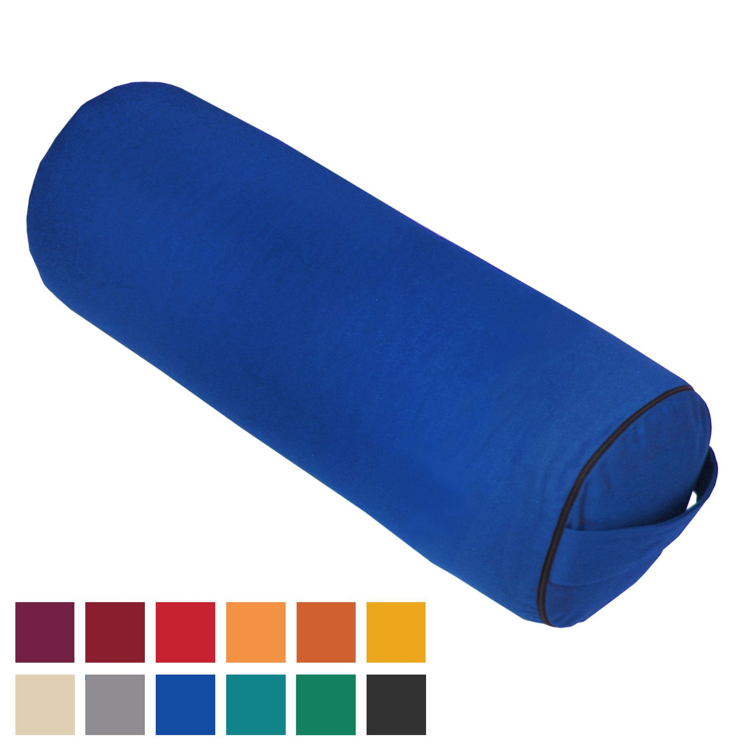 Bodhi Yoga - Cojín rodillo para yoga, color azul: Amazon.es ...