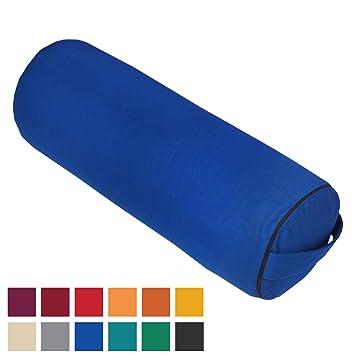 Bodhi Yoga - Cojín rodillo para yoga, color azul: Amazon.es ...
