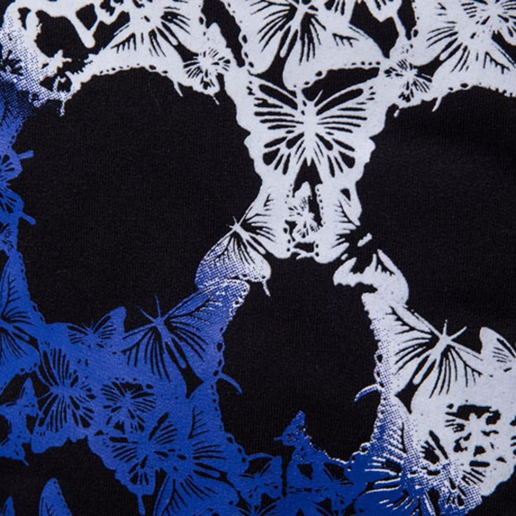 WM /& MW Novelty Mens Hoodies Tops Black Long Sleeve Butterfly Skull Printing Hooded Sweatshirt Jumper Pullover Coats