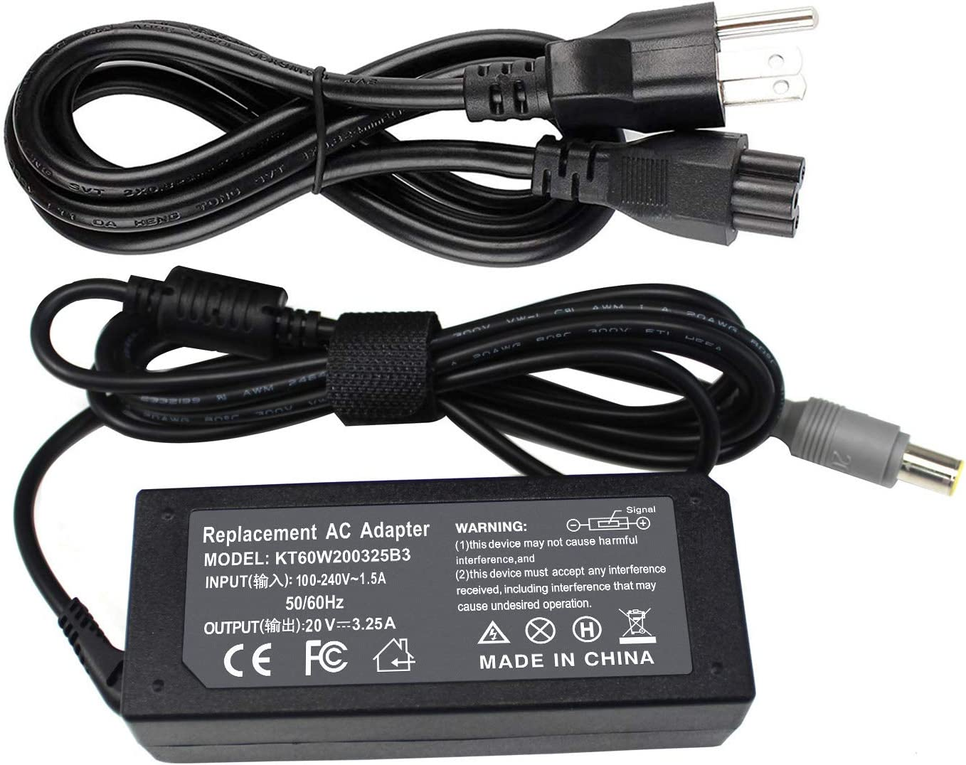 EBOYEE 20V4.5A T430 T520 X230 AC Charger Compatible with Lenovo ThinkPad T60 T61 R61 R60 X60 X61 Z60 T410 T420 T420S T430S T530 W530 X200 X300 E420 E430 E520 E545 L430 S230U 40Y7660 PA-1900-171 Laptop