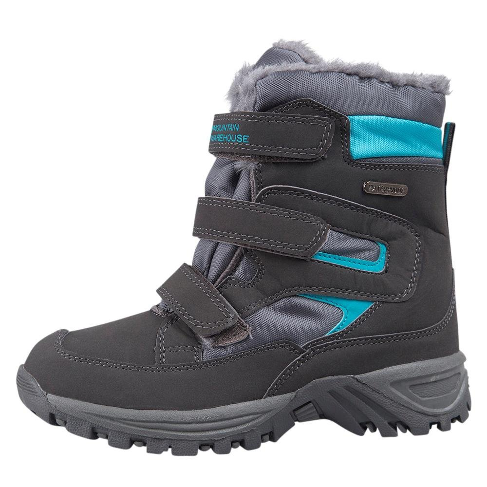 Mountain Warehouse Chill Kids Winter Waterproof Boots - Insulated Lining &  Mesh Upper For Breathability - For Both Boys & Girls - Ideal In Wet & Cold  ...