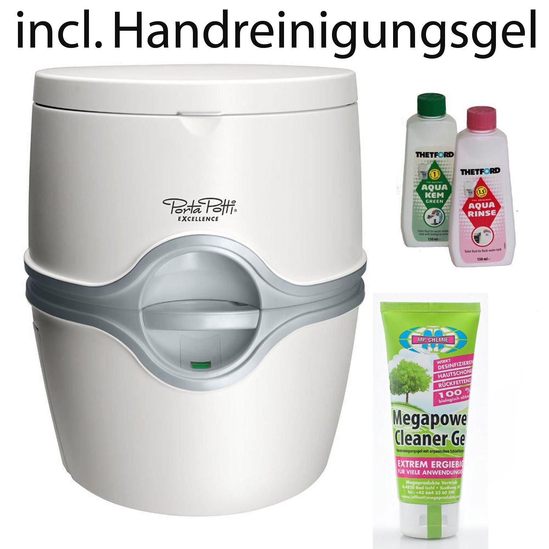 Thetford Tragbare Frischwassertoilette Porta Potti Excellence von bootsshop in Bad Ischl incl. Megapower Handreinigungsgel 100 ml