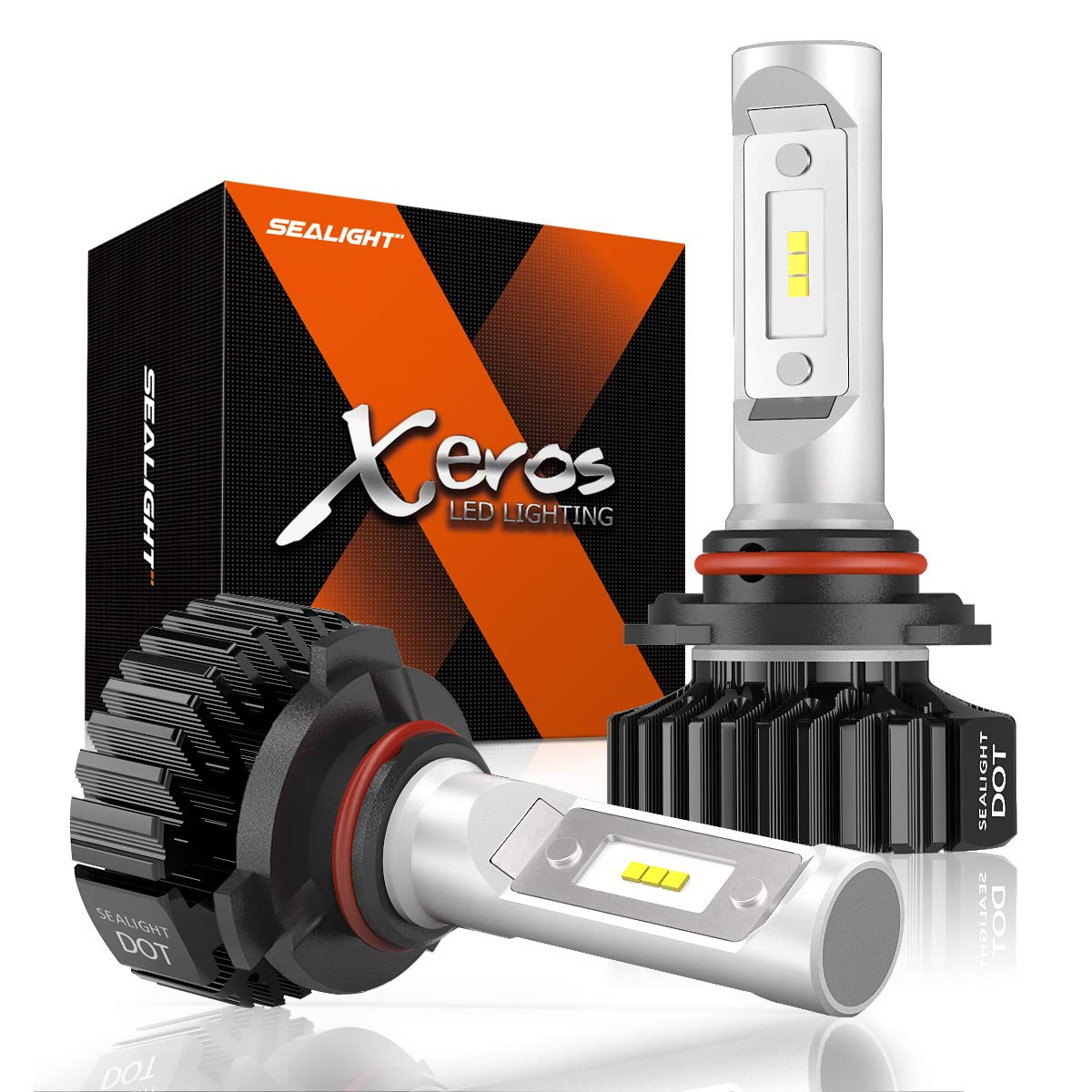 H13 LED Headlight Bulbs SEALIGHT 9008 High and Low Beam 6000K All-in-One Conversion Kit Super Bright Cool White Upgraded 12x CSP Chips