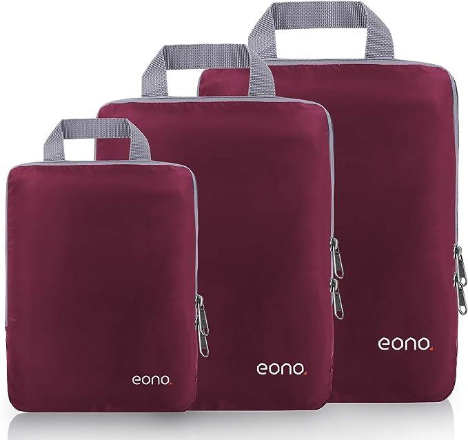 Gonex Set di 9 pezzi Cubi Organizzatori di Valigie Sacchetti Organizer a cubo dei Bagagli Borse di stoccaggio per viaggio Misura piccola media grande Blu Scuro