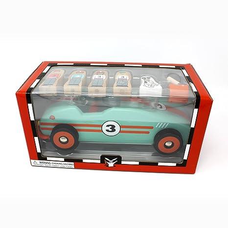 Amazon com: Jack Rabbit Creations Magnetic Retro Race Car: Toys & Games