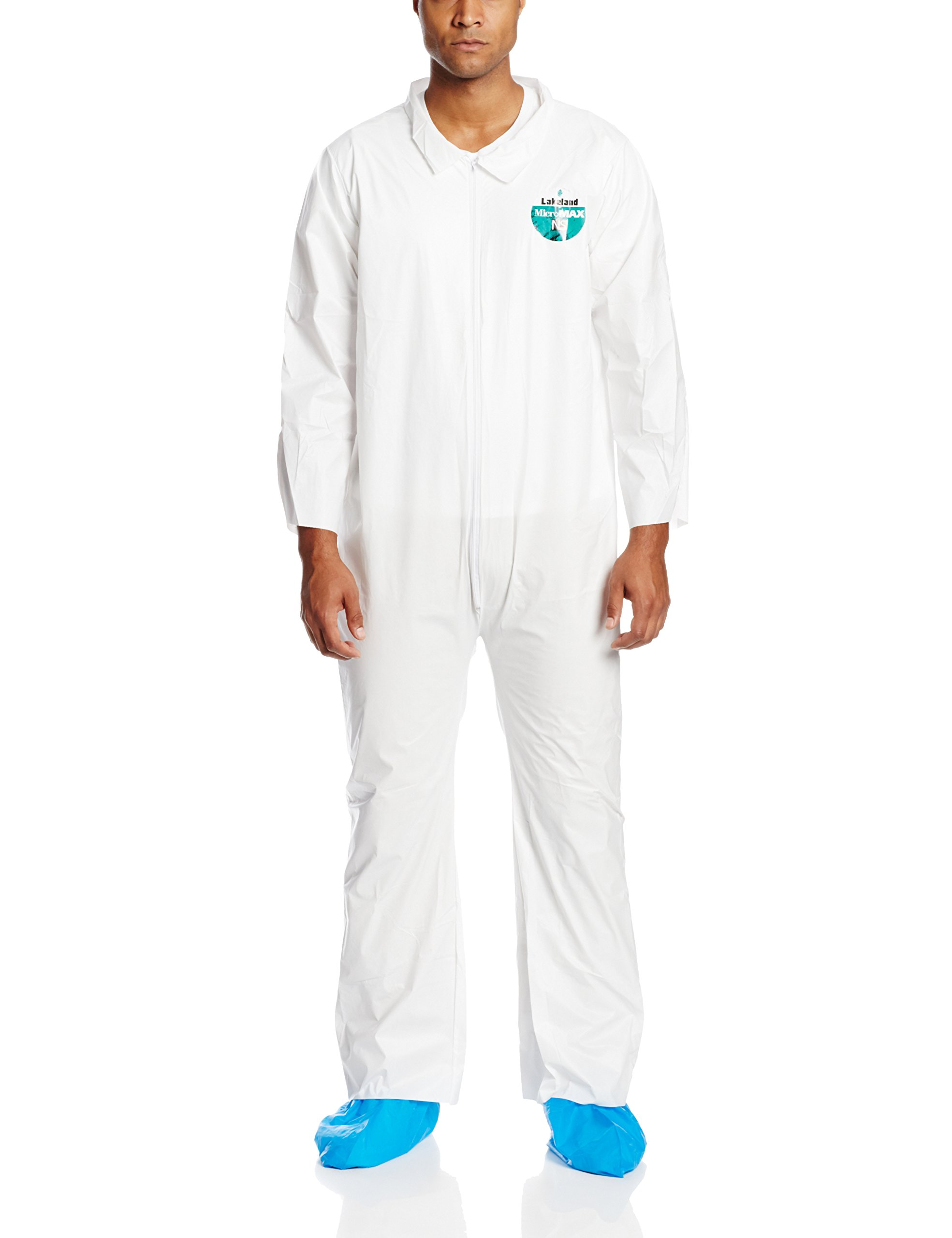 Lakeland MicroMax NS Microporous General Purpose Coverall, Open Cuff, 2X-Large, White (Case of 25) by Lakeland Industries Inc (Image #2)