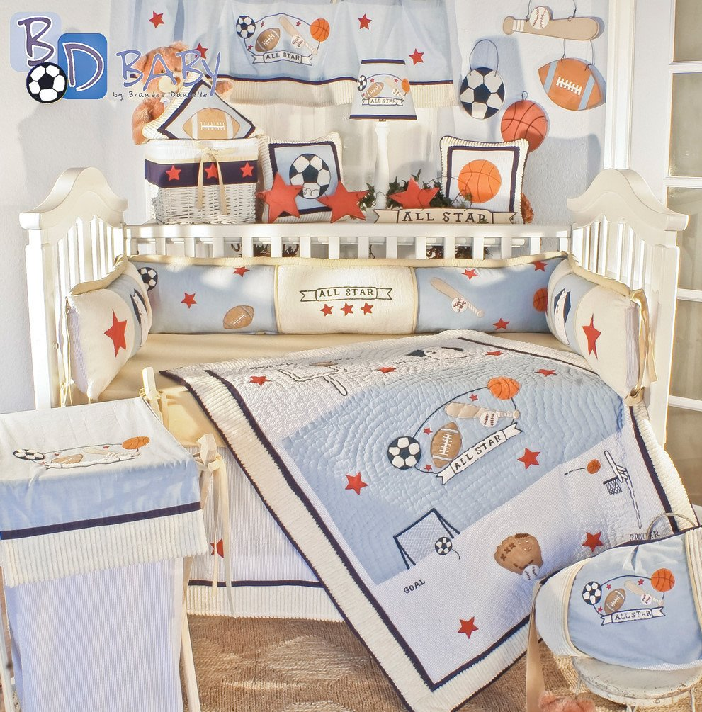 amazoncom  brandee danielle all star  piece baby crib bedding  - amazoncom  brandee danielle all star  piece baby crib bedding set  baby