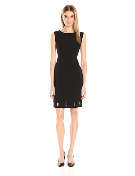 243f794be1e Anne Klein Women s Crepe Eyelet Shift Dress