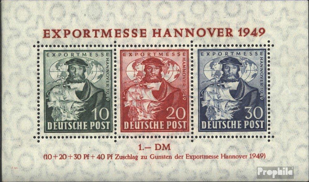 Prophila Collection Bizonal (Aliados Besetzung) Bloque 1a (Completa.edición.) examinado Sonderstempel 1949 Feria de Hannover (Sellos para los coleccionistas)