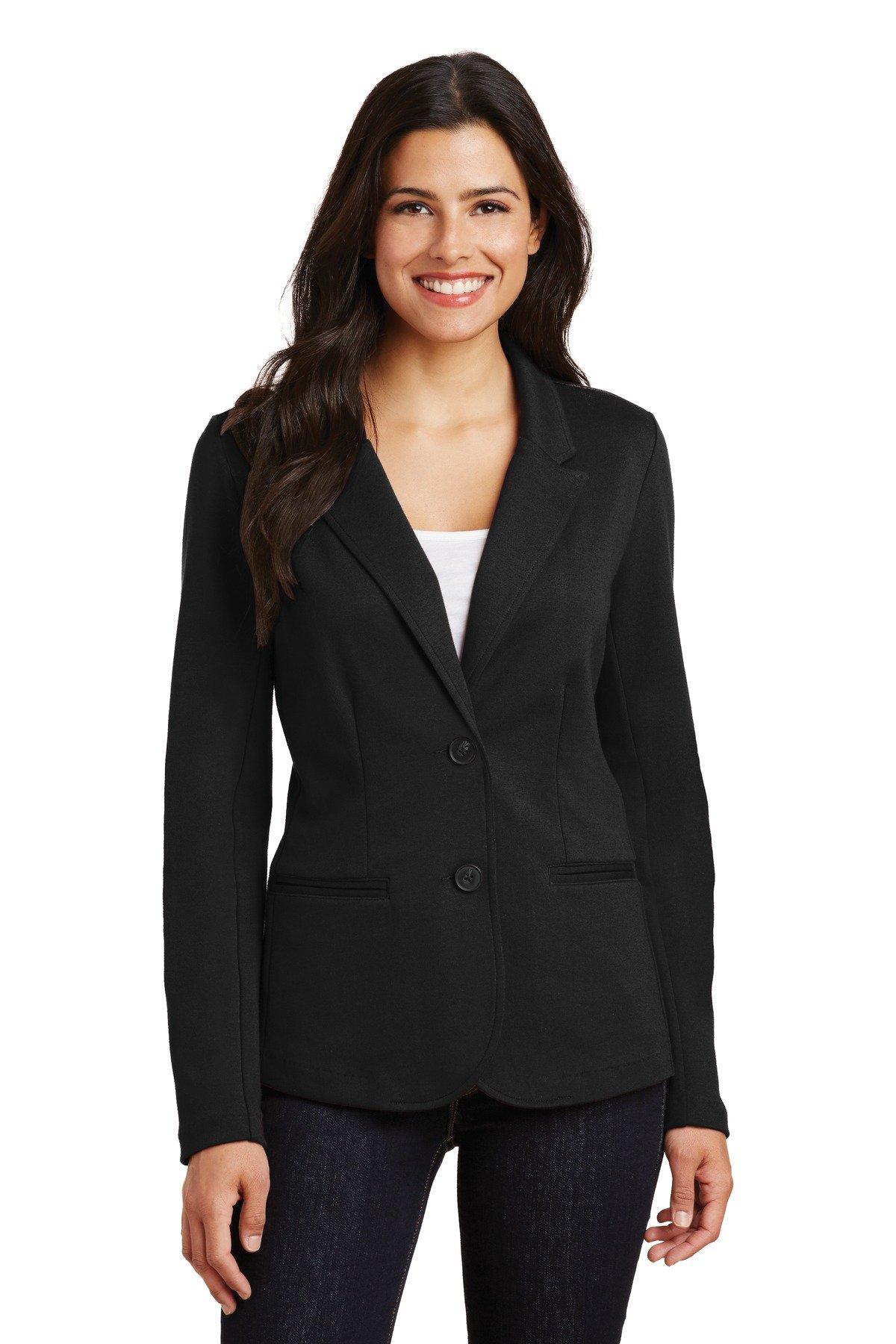 Port Authority Women's Knit Blazer LM2000 Black XL