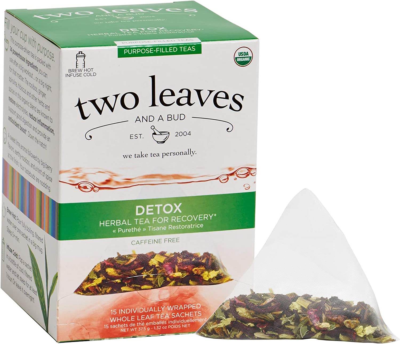 TWO LEAVES AND A BUD Organic Detox Tea 15 Bag, 0.02 Pound