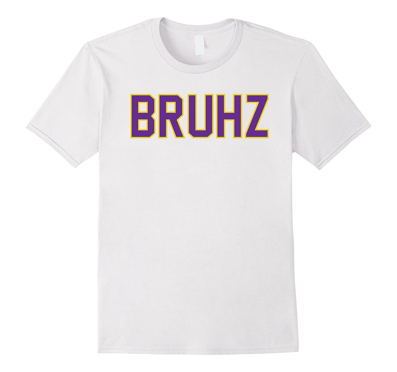 Mens Omega Gold Purple Q Psi Phi Bruhz T-Shirt-RT