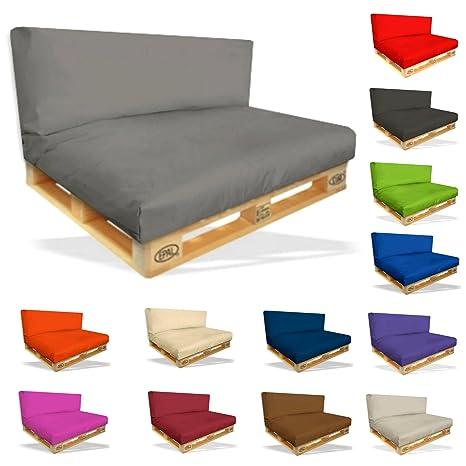 Palettenkissen Sitzpolster Set - 2er Set Sitzpolster 120x80x15cm + Rückenkissen 120x40x10cm – In & Outdoor - Palettenpolster