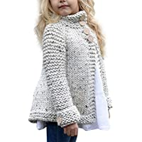 gllive Toddler Baby Girls Autumn Winter Clothes Button Knitted Sweater Cardigan Cloak Warm Thick Coat Outfit Clothes