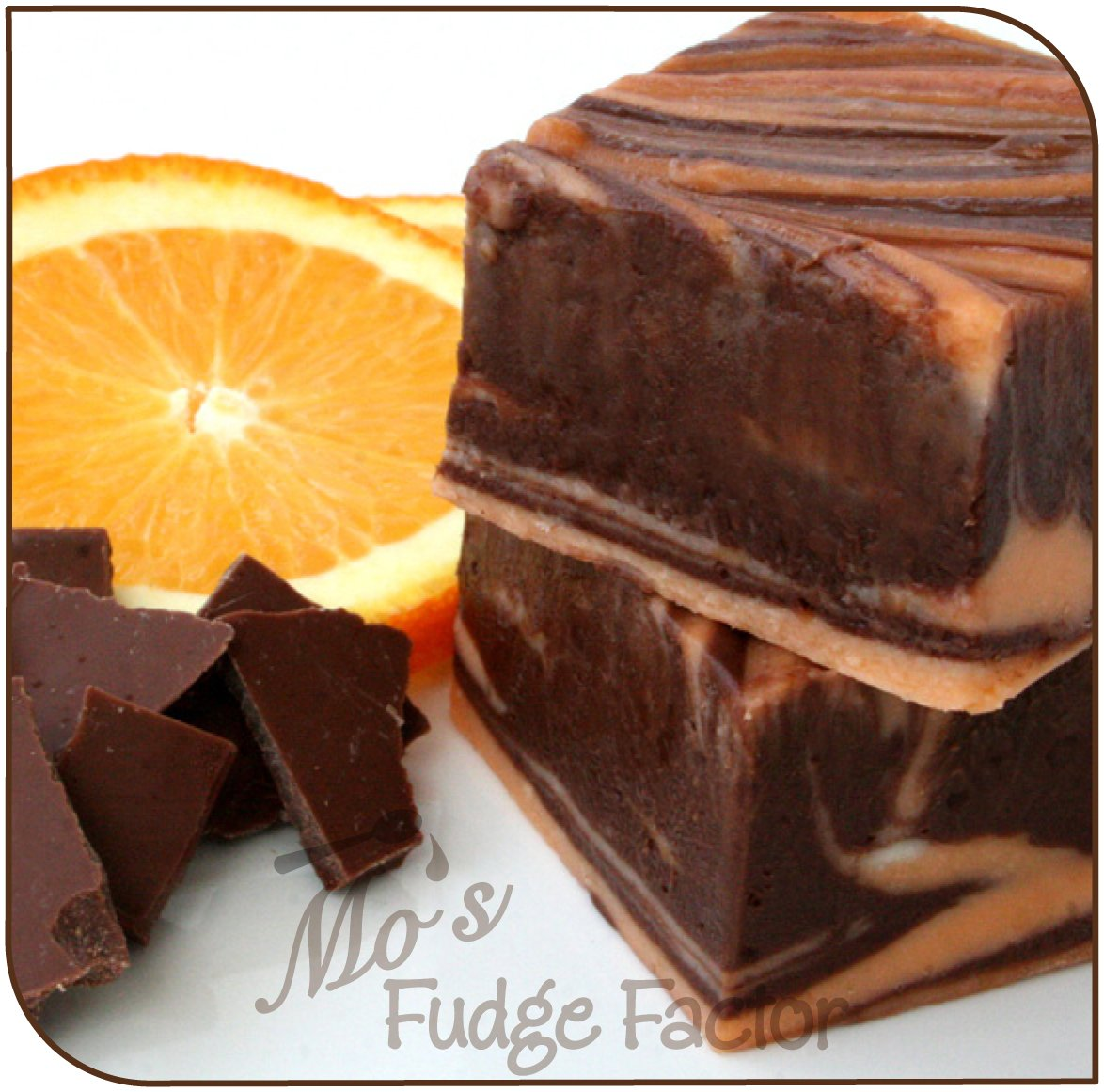 Mo's Fudge Factor, Dark Chocolate Orange Fudge, 2 Pound by Mo's Fudge Factor