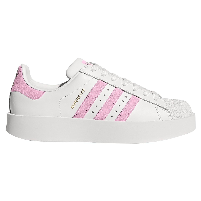 adidas Original Superstar Bold Weiszlig;/Pink BY9076. Sneaker-Plattform. Schuhe Damen