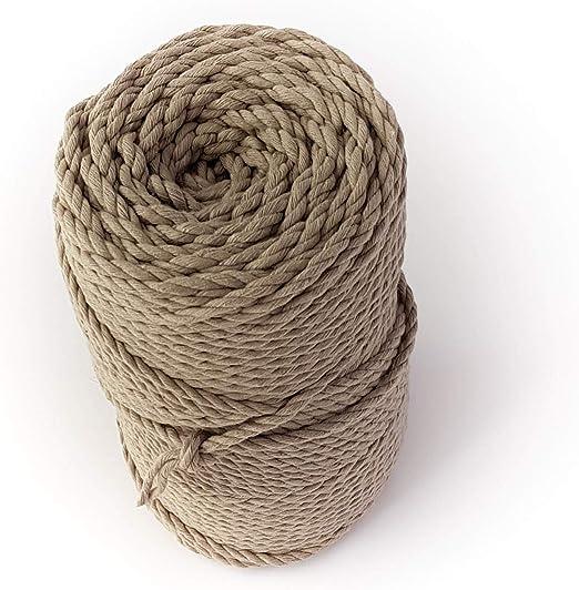 Cordón de macramé gris 4 mm 328 pies cuerda de algodón 0,16 ...