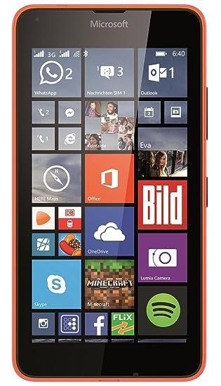 60a0b137f5a Amazon.com: Microsoft Lumia 640 XL 8GB Quad-Core Windows 8.1 Single Sim  Smartphone (GSM Unlocked) - Orange: Cell Phones & Accessories