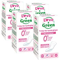 Love & Green Protège-slips Hypoallergéniques 0% x 30 - Lot de 4