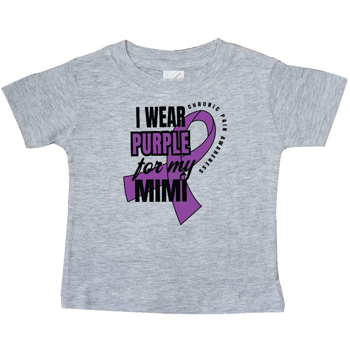 inktastic Chronic Pain I Wear Purple for My Mimi Baby T-Shirt