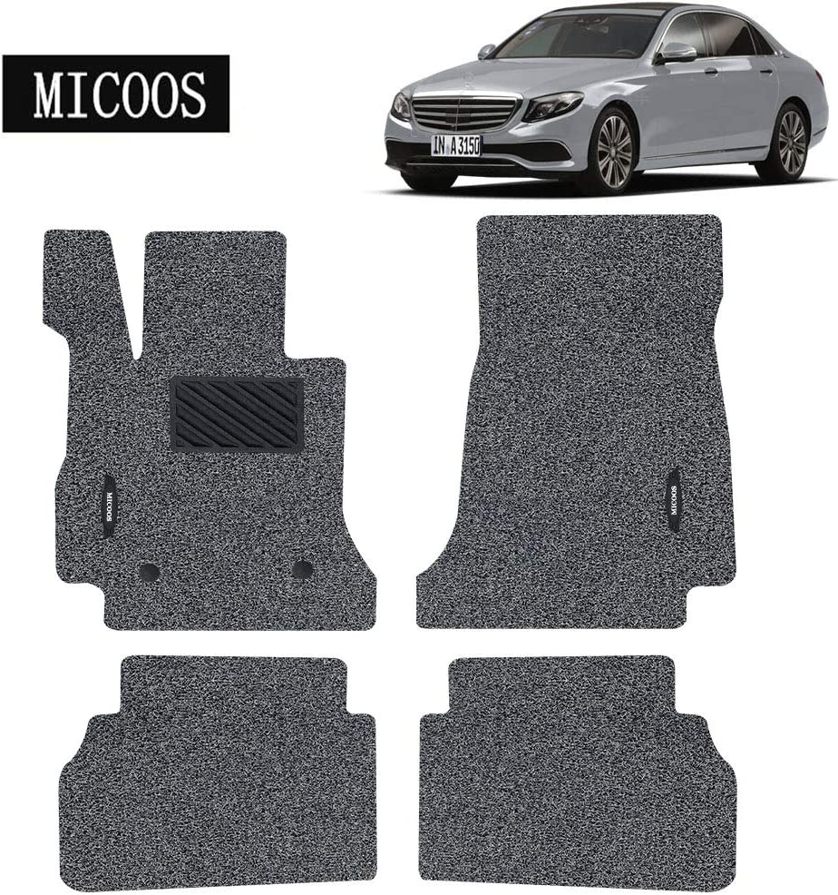 Black MICOOS Compatible with Car Floor Mat Carpet for Mercedes-Benz E-Class 2017-2020 W213 All Weather Heavy Duty Floor Mat Set Waterproof Stain-Resistant