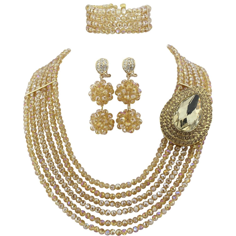 Amazoncom Ellenjewelry Gold African Beads Jewelry Sets Nigerian