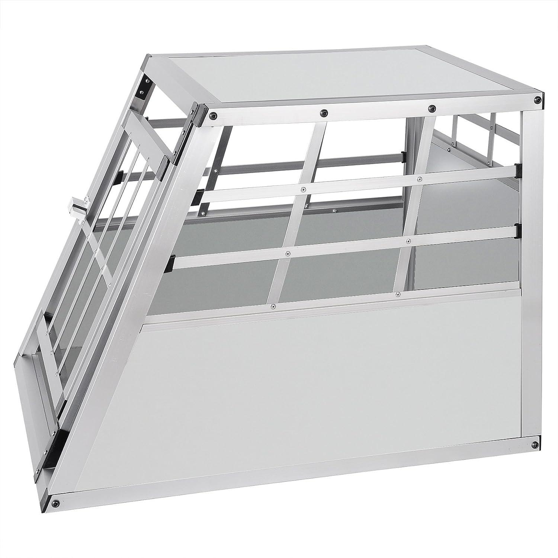 Colore Bianco Porta-Animali per Viaggio Gabbia per Cani Gatto Animali Piccoli 69x54x50cm E-starain Gabbie da Trasporto per Cani in Alluminio