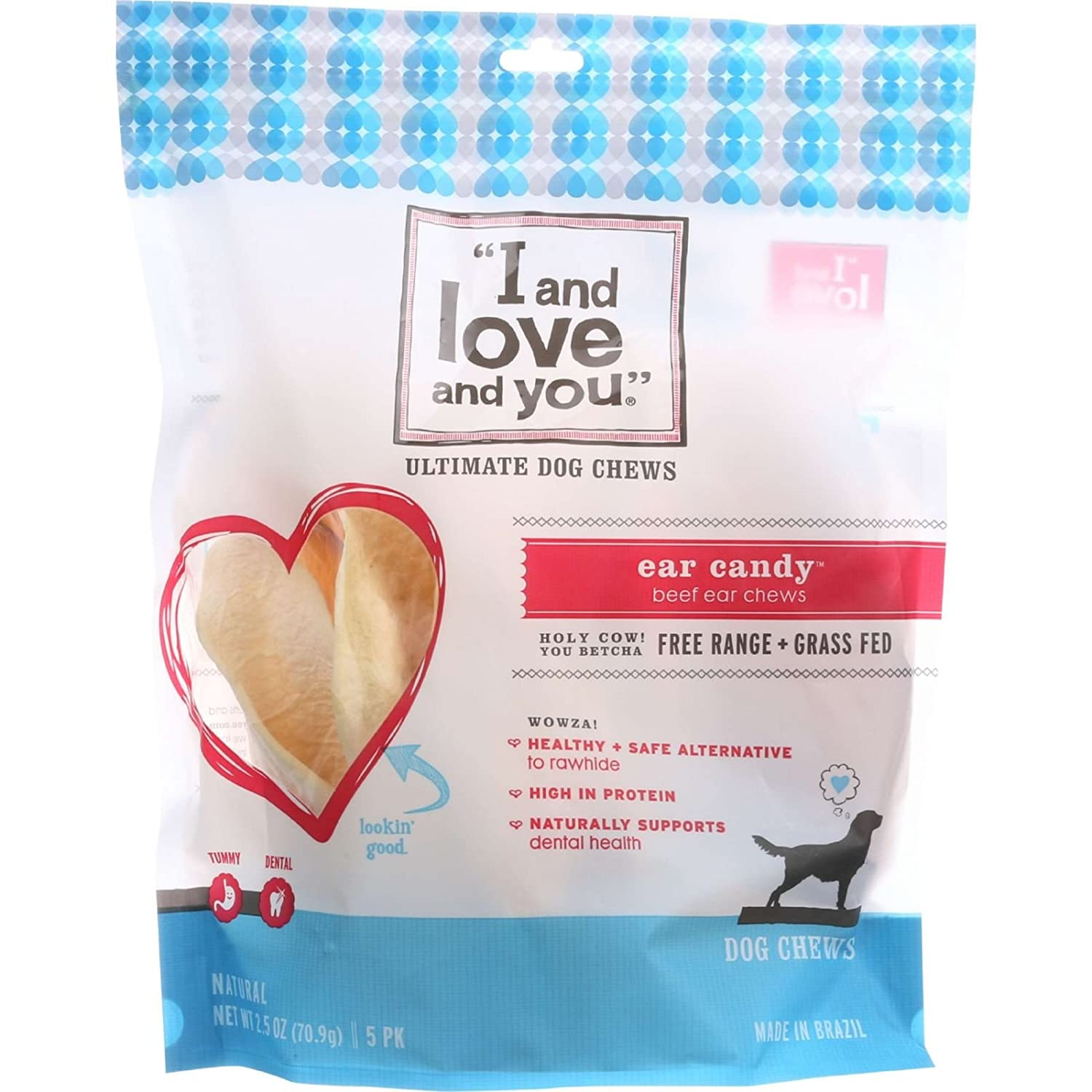 I and Love and You Ear Candy Ultimate Dog Chew – 5 per pack – 6 packs per case.