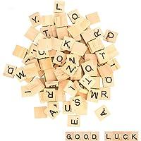 100 piezas Letras de madera, alfabeto madera A