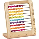 B. toys – Two-ty Fruity! Wooden Abacus Toy – Classic Wooden Educational Counting Toy With 100 Beads – Natural Wood and BPA and Phthalates FREE Beads