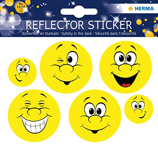 1 opinioni per HERMA 19197riflettore di adesivo permanente, motivo: Happy Face, 5adesivi