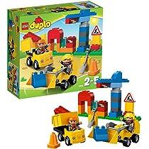 Lego Duplo Building Site a pylons strassenabsperrung