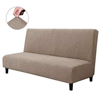Prime Chun Yi Armless Sofa Slipcover Elastic Fitted Full Folding Sofa Bed Cover Without Armrests Removable Machine Washable Non Slip Furniture Protector For Download Free Architecture Designs Scobabritishbridgeorg