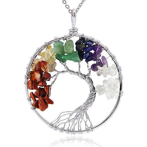 "Freedom Tree/"" Carnelian /& Crystal Gemstone Necklace Hand Made Chakra //Healing"
