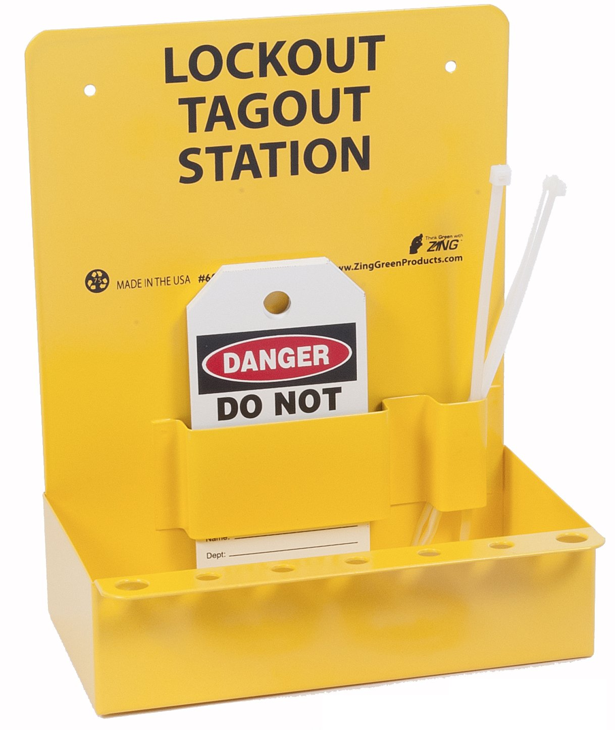 Oberon LOTO-STATION Electrical Lockout Station, Red/Yellow