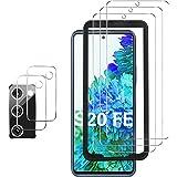 GESMA Screen Protector Compatible with Samsung Galaxy S20 FE, [3 Screen Protectors+2 Camera Protectors][Support Fingerprint]