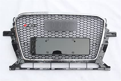 NEW SQ5 paint chrome frame Front Center Grille Grill for Audi Q5 2013-2017 BLACK