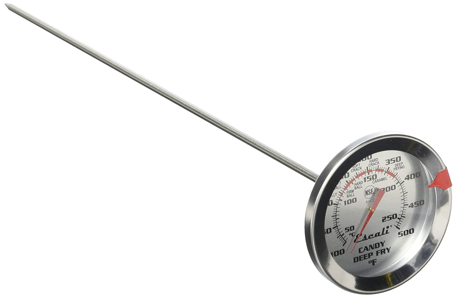 Escali AHC2 NSF Listed Candy/Deep Fry Thermometer with 12 Probe, Silver