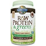 Garden of Life Greens and Protein Powder - Organic Raw Protein and Greens with Probiotics/Enzymes, Vegan, Gluten-Free, Chocolate 22oz (1lb 6oz/611g) Powder