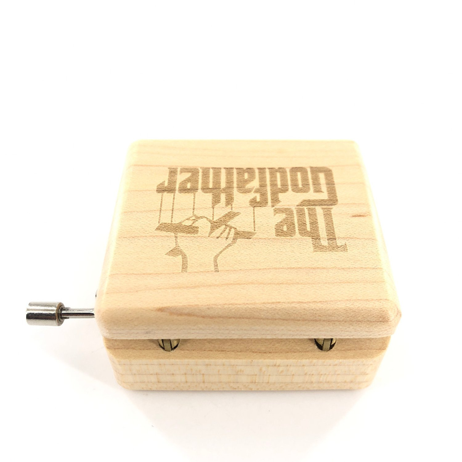 The Godfather Music Box - 18 Note Mechanism Antique Laser Engrave Wood Musical Box Crafts Melody Castle in Hand by Huntmic (Image #3)