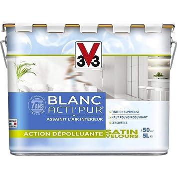 V33 Peinture Murs Et Plafonds Action Dépolluante Actipur Blanc