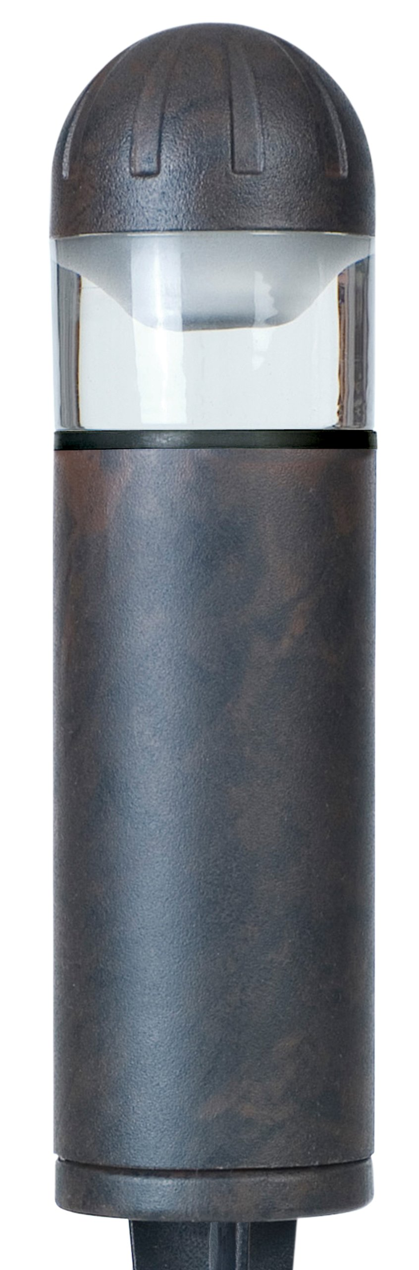 Paradise by Sterno Home Low Voltage aluminum 20W Bollard, bronze (Quick clip connector, Halogen MR11 bulb - INCLUDE by Sterno Home