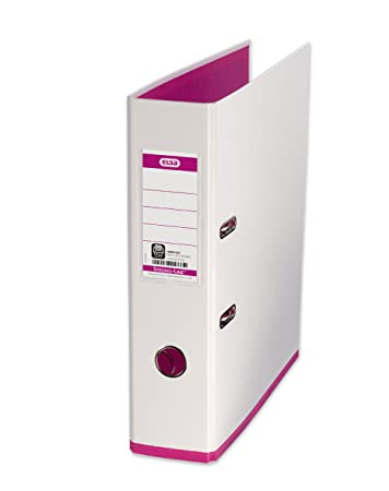 Elba 100081031 ordner mycolour, a4, breit, 1 stück,weiß/pink ...