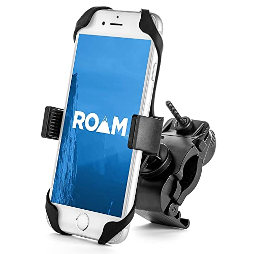 "Roam Universal Premium Bike Phone Mount for Motorcycle - Bike Handlebars, Adjustable, Fits iPhone 7   7 Plus, 8   8 Plus, iPhone 6s   6s Plus, Galaxy S7, S6, S5, Holds Phones Up To 3.5"" Wide"