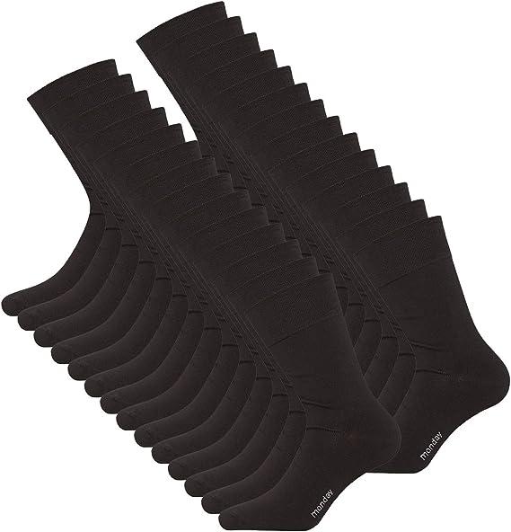 DAILYSOXX Socken Herren Business Strumpf Schwarz Handgekettelt 39-42 43-46 47-49