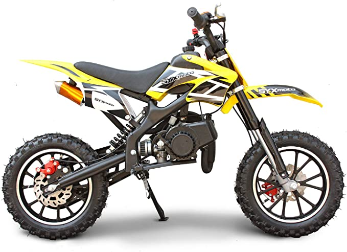 SYX MOTO Kids Mini Dirt Bike Gas Power 2-Stroke 50cc