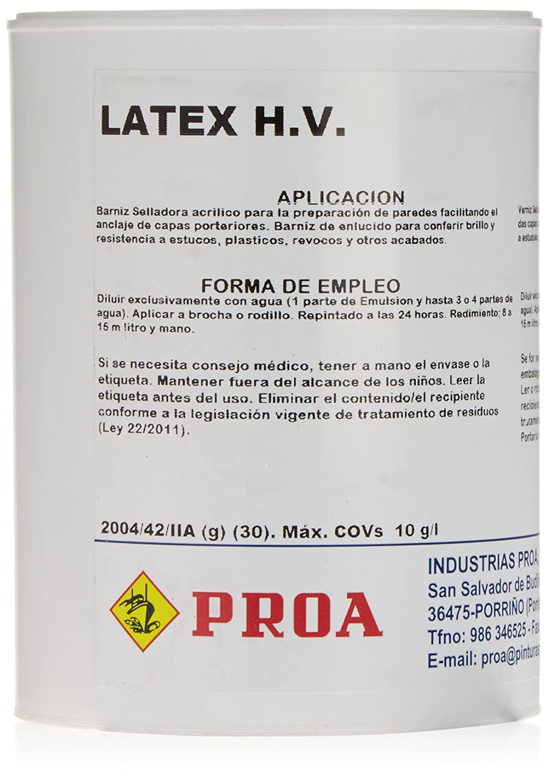 Barniz latex proa tipo alkil 750 ml: Amazon.es: Belleza