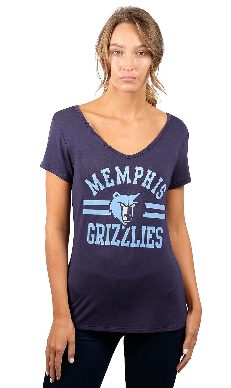 NBA レディースTシャツ Vネック ゆったりフィット 半袖Tシャツ チームロゴカラー L ブルー   B01M4OURYF