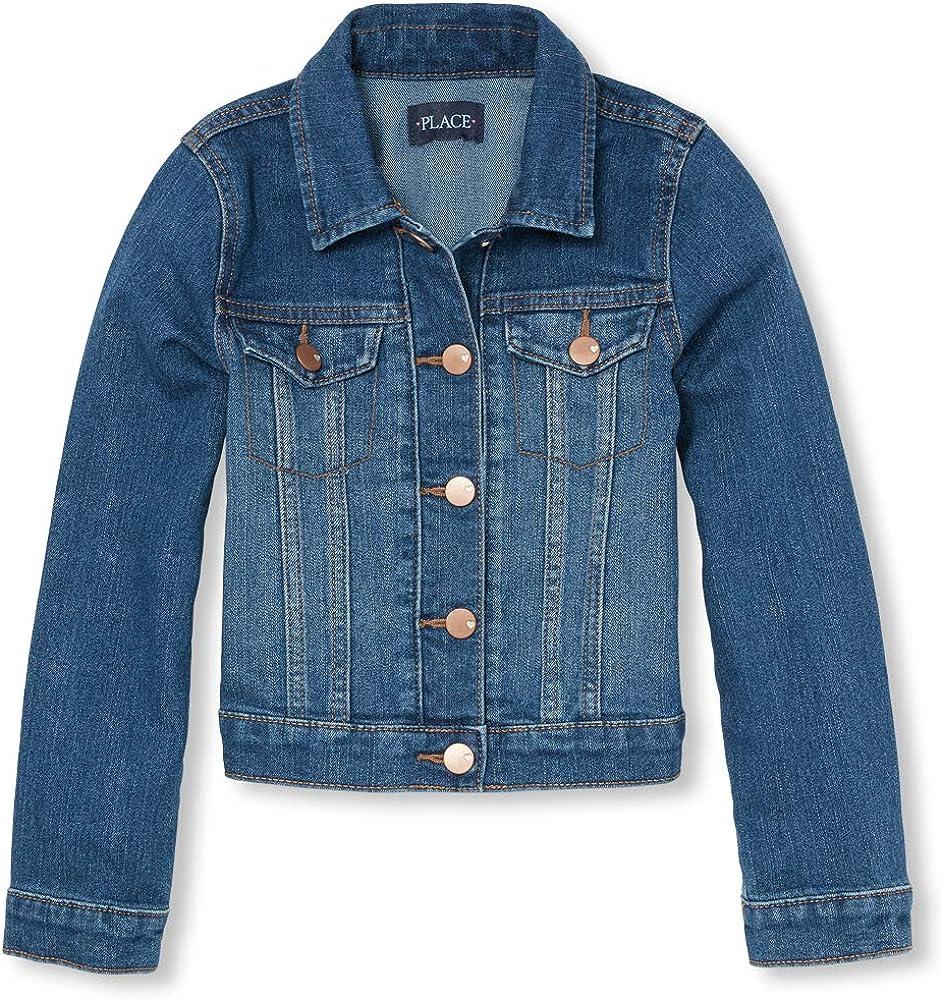 e26d8a189b0b Amazon.com: The Children's Place Big Girls' Denim Jacket, AZUREWASH ...